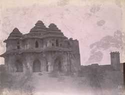 General view of the Lotus Mahal, Vijayanagara
